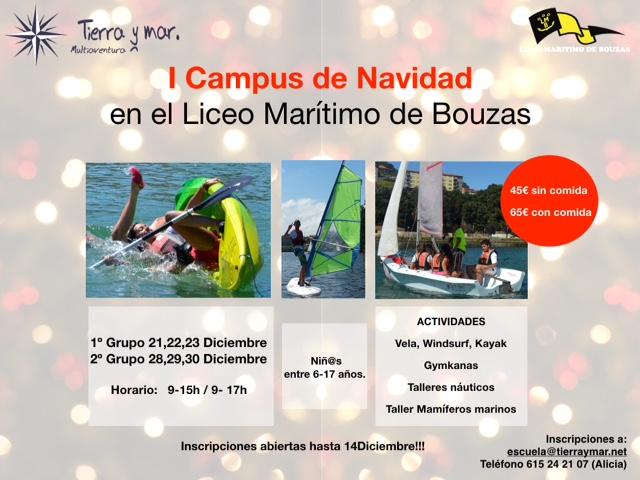 Escuela de Vela del Liceo Marítimo de Bouzas. Campus Navidad.