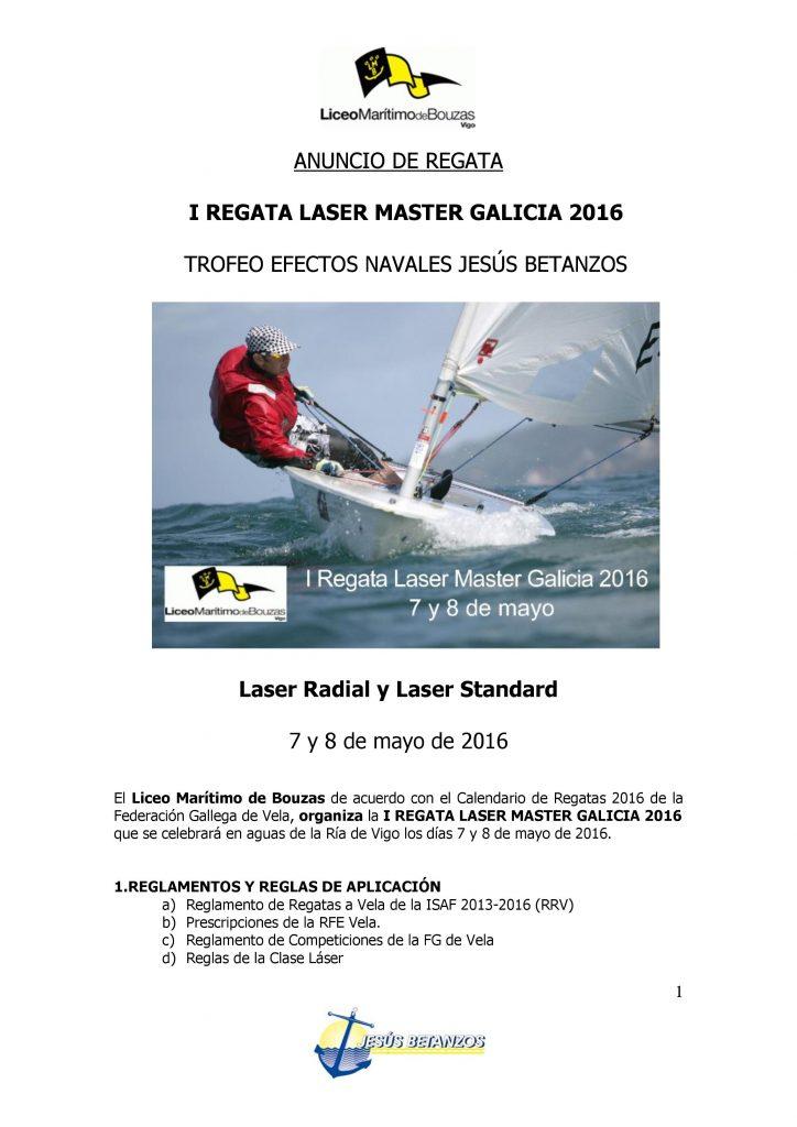 I REGATA LASER MASTER GALICIA 2016