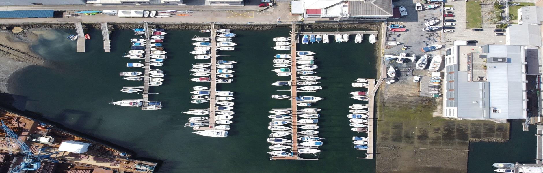 Foto aérea de la marina del LMB 2020